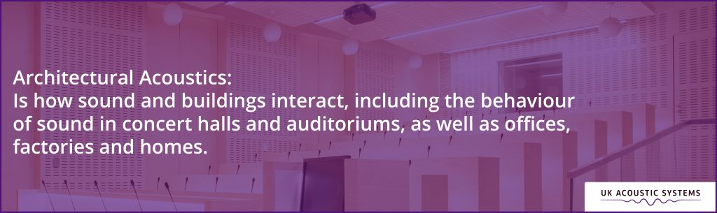 Architectural Acoustics: The study of how sound and buildings interact, including the behavior of sound in concert halls and auditoriums.