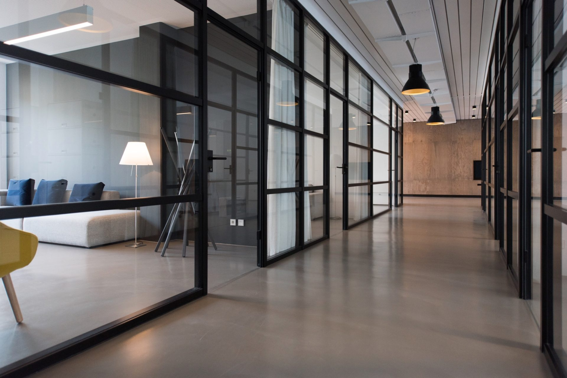 Commercial property with underfloor heating